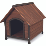 Petmate 25038 Ruff Hauz House Dog Wd Peak Roof 50- 90 Pound