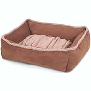 Petmate 80385 Bed Pet 24X20 Lounge Dark Tan