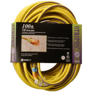 Southwire 02549-88-22 100 Foot 12/3 Yellow Extension Cord