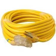 Southwire 4388SW8802 Tri Source 50 Foot Triple End Extension Cord With Lite
