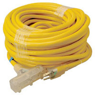 Coleman Cable 4389SW8802 Tri Source 100 Foot Triple End Extension Cord With Lite