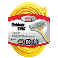 Southwire 04189 100 Foot 12/3 3 Outlet Extension Cord