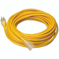 Coleman Cable 2588SW002 Cord Ext Otdr Lt 12/3X50ft Yel