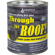 Sashco 14023 Through The Roof Sealant Roof Brush Clr Voc Qt