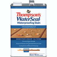 Thompsons 041821-16 Maple Brown Waterproofing Transparent Stain & Sealer Gallon
