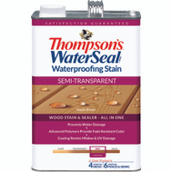 Thompsons 042821-16 Maple Brown Waterproofing Semi Transparent Stain & Sealer Gallon