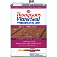 Thompsons 042841-16 Acorn Brown Waterproofing Semi Transparent Stain & Sealer Gallon