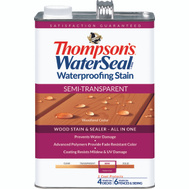 Thompsons 042851-16 Woodland Cedar Waterproofing Semi Transparent Stain & Sealer Gallon