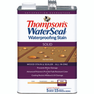 Thompsons 043811-16 Harvest Gold Waterproofing Solid Color Stain & Sealer Gallon