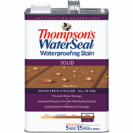Thompsons 043821-16 Maple Brown Waterproofing Solid Color Stain & Sealer Gallon