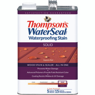 Thompsons 043831-16 Sequoia Red Waterproofing Solid Color Stain & Sealer Gallon