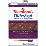 Thompsons 043841-16 Acorn Brown Waterproofing Solid Color Stain & Sealer Gallon
