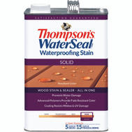 Thompsons 043851-16 Woodland Cedar Waterproofing Solid Color Stain & Sealer Gallon