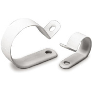 Gardner Bender PPC-1538 15 Pack 3/8 Inch White Plastic Clamp