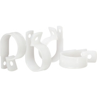 Gardner Bender PPC-1600 White 1 Inch 1 Hole Plastic Clamp