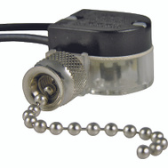 Gardner Bender ECM GSW-31 Nickel Plate Pull Chain On/Off Switch