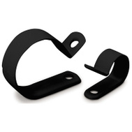 Ecm Industries Llc PPC-1550UVB 12 Pack 1/2 Inch Black Plastic Clamp