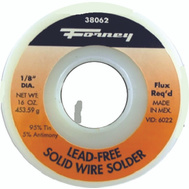 Forney 38062 Solder 1/8In 95Tin/5Ant 1 Lb