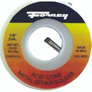 Forney 38102 Solder 1/8In Ac30tin/70L 1/2 Pound