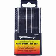 Forney 60239 20 Piece Number Sizes 61-80 Mini Drill Bit Set