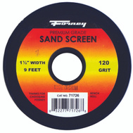 Forney 71726 Sand Screen 120 Grit 1-1/2X9ft