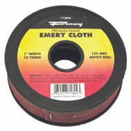 Forney 71804 Cloth Emery 120Grit 1Inx10yard