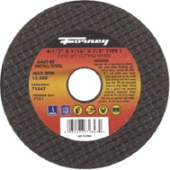 Forney 71847 4-1/2 By 1/16 By 7/8 Inch Aluminum Oxide Metal Cutting Wheel