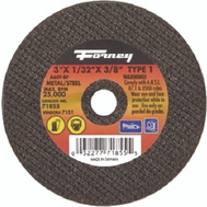 Forney 71855 Wheel Cutoff Mtl 3X1/32X3/8In