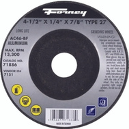 Forney 71886 Wheel Grind Typ27 Al 4.5x1/4in