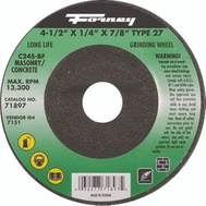 Forney 71897 Wheel Grind Msnry Typ27 4.5In