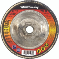 Forney 71933 Disc Flap Type29 120Grit 4.5In
