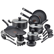 T Fal B207SK64 Initiatives Cookware Set Black 20Pc