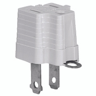 Cooper Wiring 419GY 2 Wire Grounding Adapter Gray
