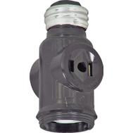 Cooper Wiring BP715B Keyless Lampholder Adapter Brown