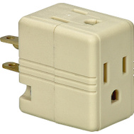Cooper Wiring BP1482V 3 Outlet 3 Wire Grounded Cube Tap Ivory