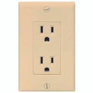 Cooper Wiring C1507V 15 Amp 3 Wire Grounded Duplex Receptical Ivory