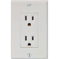 Cooper Wiring C1507W 15 Amp 3 Wire Grounded Duplex Receptical White