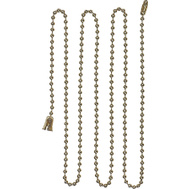Cooper Wiring BP331BB Ball Lamp Chain 3 Foot With End Bell And Connector Brass Finish