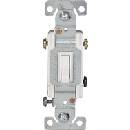 Cooper Wiring C1303-7W 3 Way White Toggle Switch