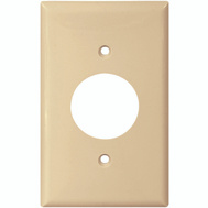Cooper Wiring 5131V-BOX Single Outlet Wall Plate Nylon Ivory