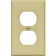 Cooper Wiring 5132V 1 Gang Nylon Duplex Receptacle Plate Ivory