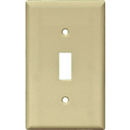 Cooper Wiring 5134V 1 Gang Nylon Single Toggle Wall Plate Ivory