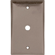 Cooper Wiring 2128B-BOX 2 Gang Telephone And Coax Wall Plate Brown