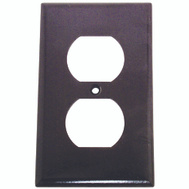 Cooper Wiring 2132B-BOX 1 Gang Duplex Receptacle Wall Plate Brown