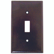 Cooper Wiring 2134B-BOX 1 Gang Standard Toggle Wall Plate Brown