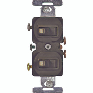 Cooper Wiring 271B-BOX 1 Pole 2 Toggle Switch Brown