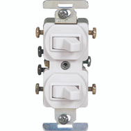 Cooper Wiring 276W-BOX 3 Way Duplex Switches White