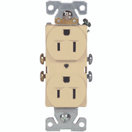 Cooper Wiring 827V-BOX 15 Amp 3 Wire Grounded Duplex Receptical Ivory