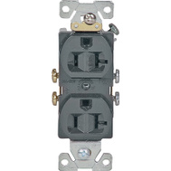 Cooper Wiring 877B-BOX 20 Amp 3 Wire Grounded Duplex Receptacle Brown