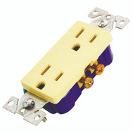 Cooper Wiring 1107V-BOX Decorator Duplex Receptacle Ivory